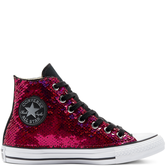 Purple & Silver Sequins Chuck Taylor All Star High Top