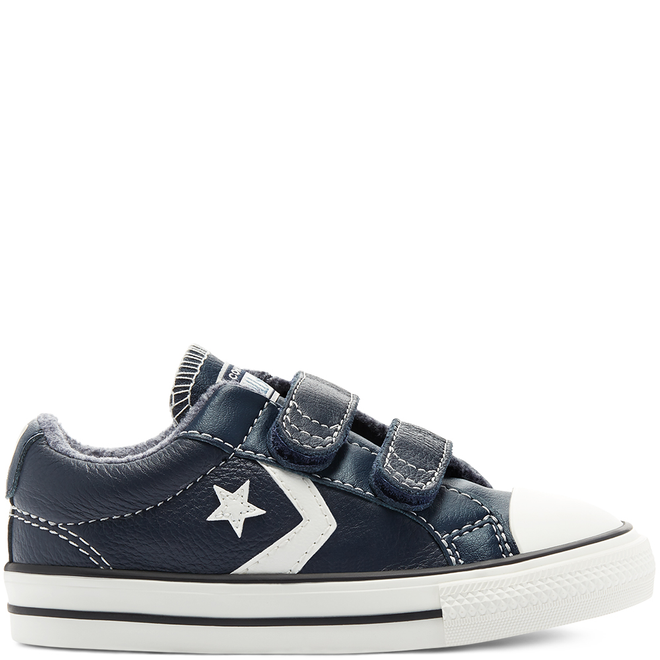Leather + Heathered Knit Easy-On Star Player Low Top