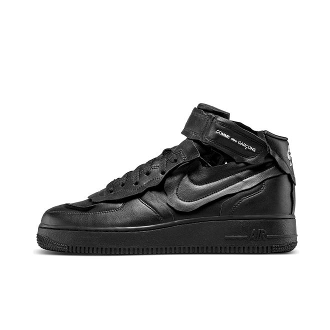 Comme Des Garçons X Nike Air Force 1 Mid 'Black'