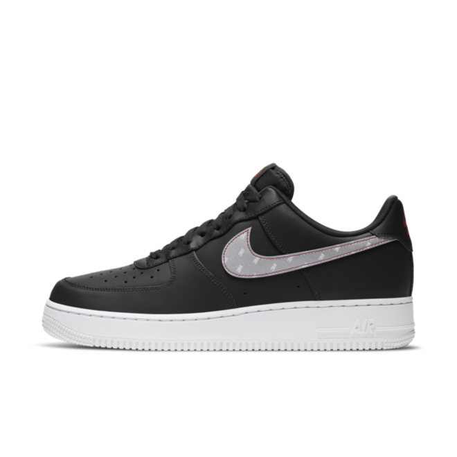 Nike Air Force 1 3M 'Black' zijaanzicht