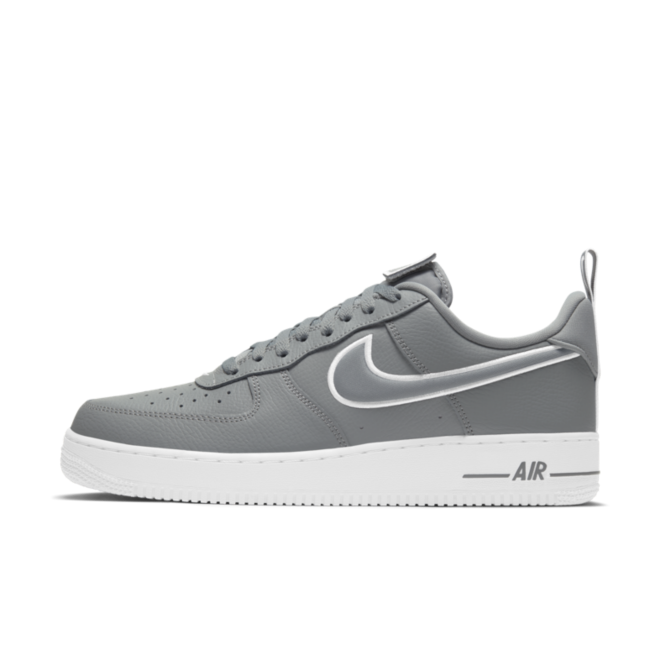 Nike Air Force 1 Patches 'Grey' zijaanzicht