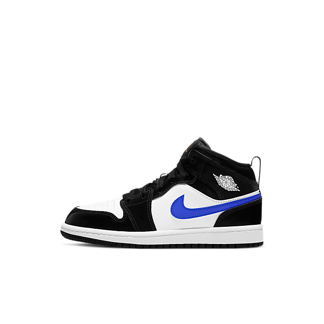 Jordan 1 Mid Black Racer Blue White (PS)