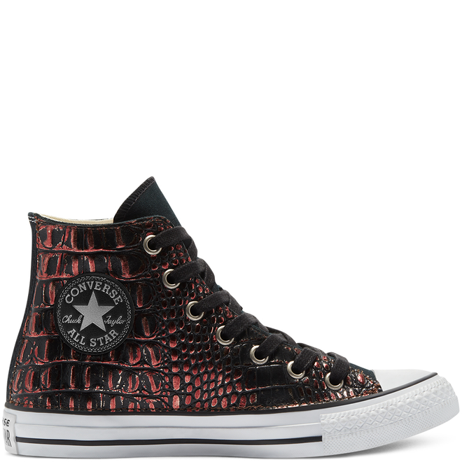 Metallic Crocodile Chuck Taylor All Star High Top