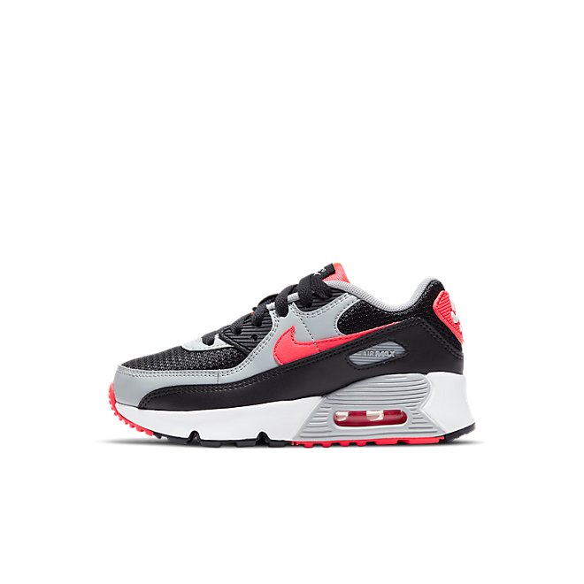 Nike Air Max 90 Black Radiant Red Wolf Grey (PS)