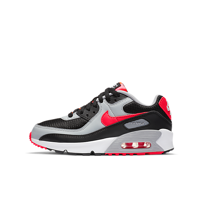 Nike Air Max 90 Black Radiant Red Wolf Grey (GS)