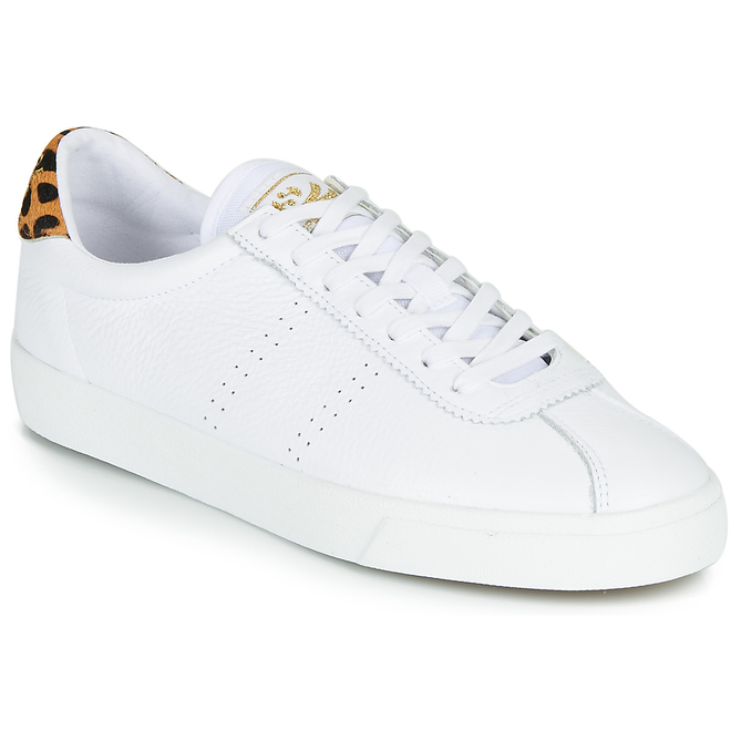 Superga  2843-COMFLEALEOPARDU  women's Shoes (Trainers) in White