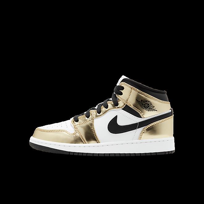 Jordan 1 Mid Metallic Gold Black White (GS)