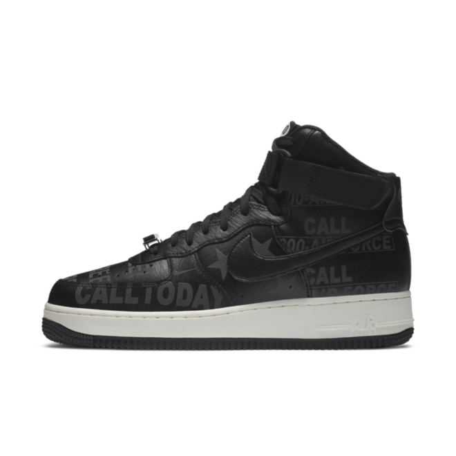 Nike Air Force 1 High 'Toll Free' zijaanzicht
