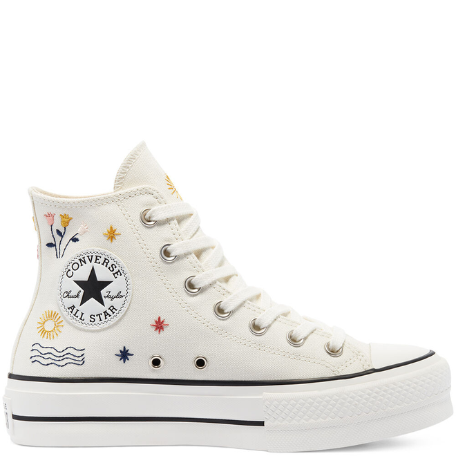 It's Okay To Wander Platform Chuck Taylor All Star High Top