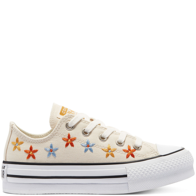 Spring Flowers EVA Platform Chuck Taylor All Star Low Top