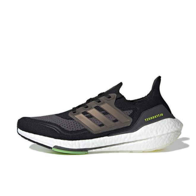 adidas Ultraboost 21 'Core Black/Solar Yellow'