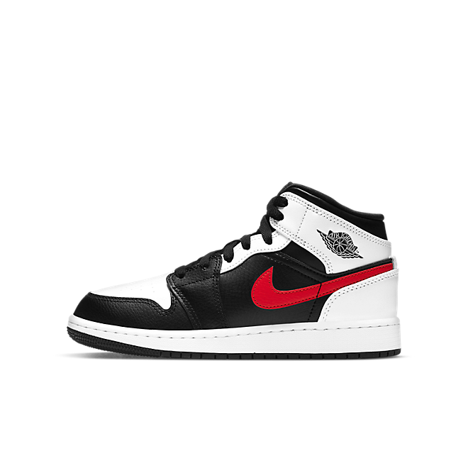 Jordan 1 Mid White Black Chile Red (GS)