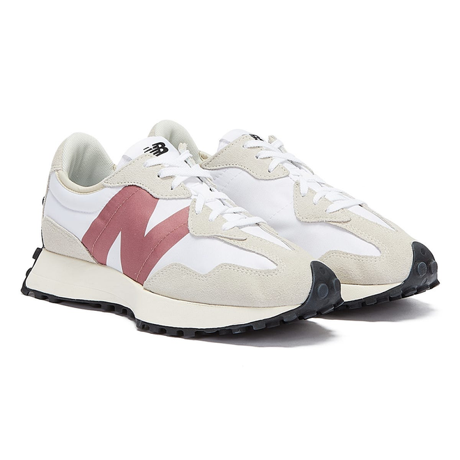 New Balance 327 Womens White / Pink Trainers