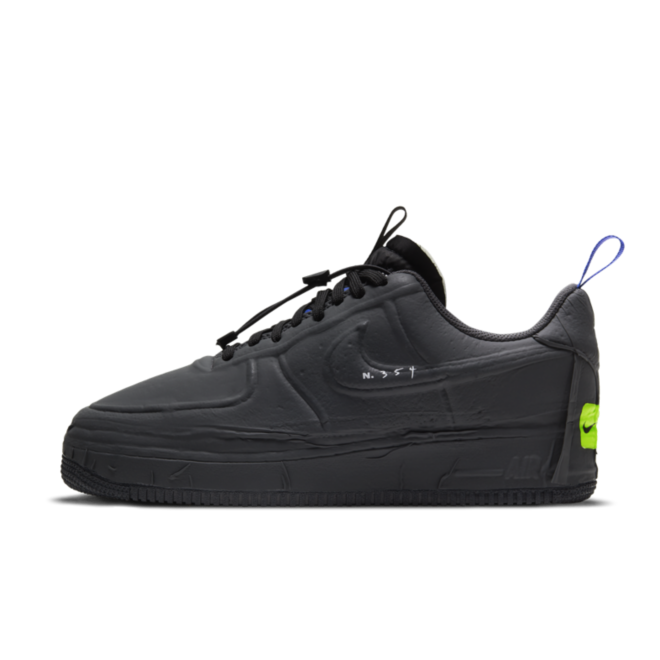 Nike Air Force 1 Low Experimental 'Black' zijaanzicht