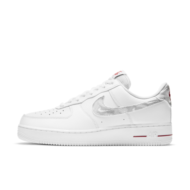 Nike Air Force 1 'Topography' - Red zijaanzicht