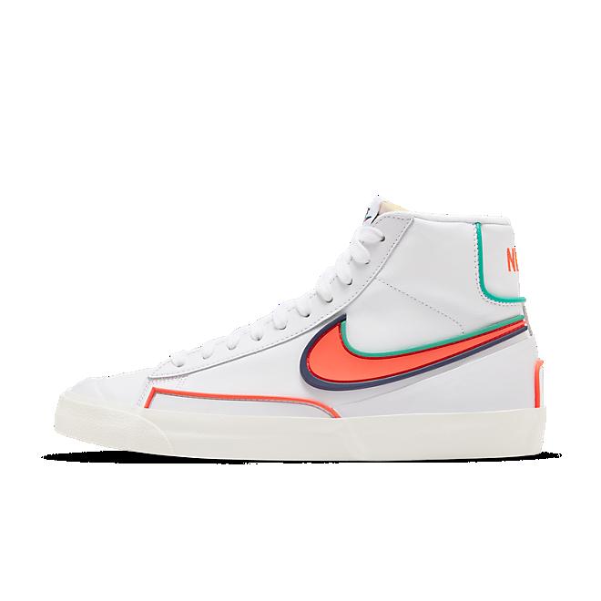 Nike Blazer Mid Infinite White Bright Crimson