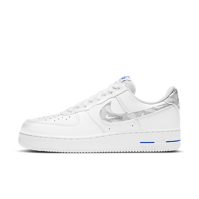 Nike Air Force 1 'Topography' - Blue zijaanzicht