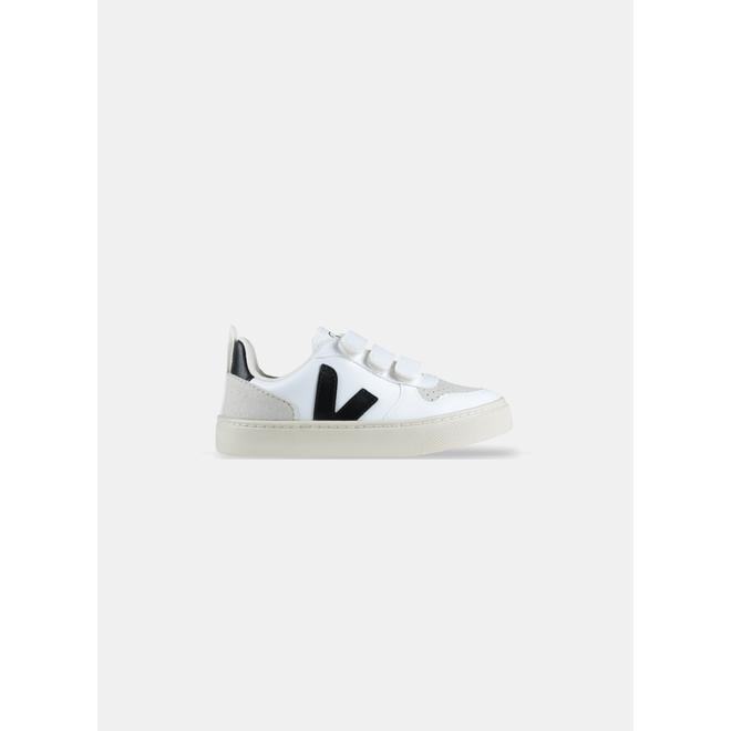 Veja V-10 Velcro CWL White Black PS