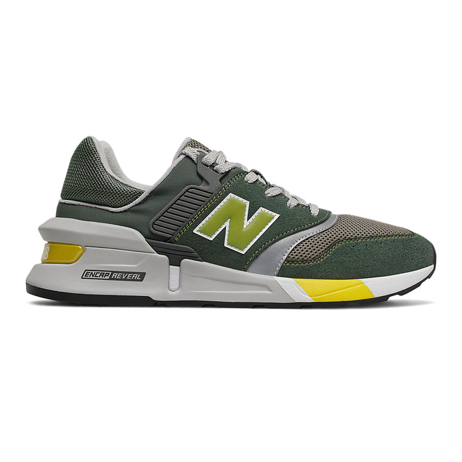 New Balance 997 Sport - Slate Green with Chartreuse