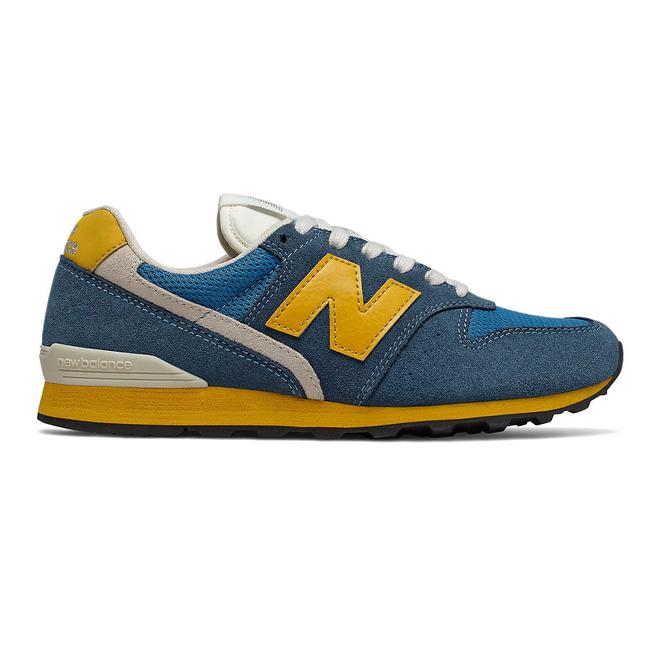 New Balance 996 - Stone Blue with Varsity Gold