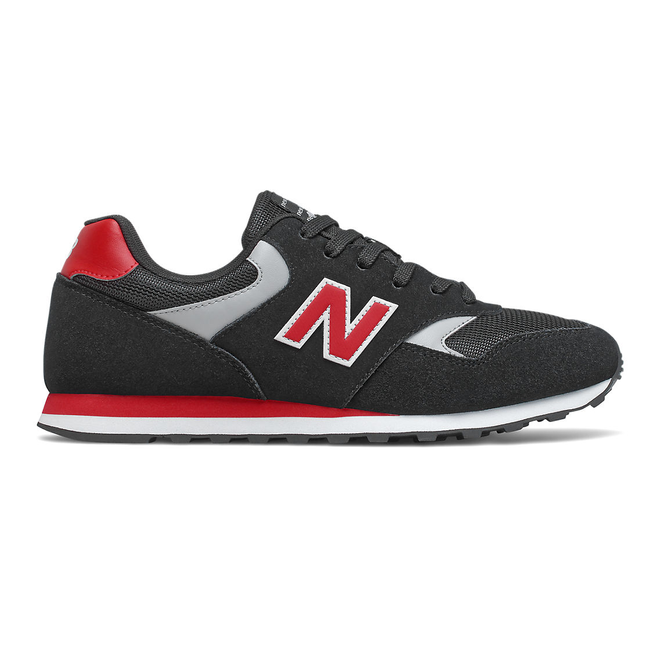 New Balance 393 - Black with Team Red