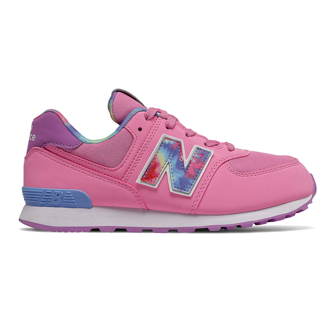 New Balance 574 Tie Dye - Candy Pink with Neo Violet