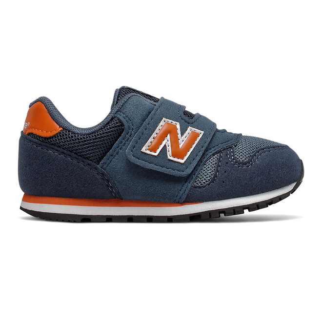 New Balance 373 Hook and Loop - Stone Blue with Vintage Orange