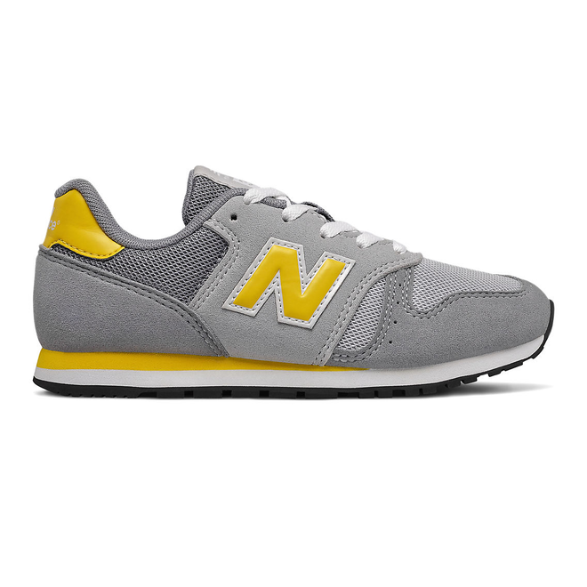 New Balance 373 - Steel with Atomic Yellow