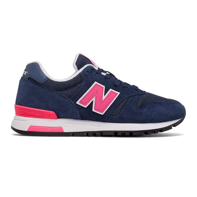 565 New Balance - Navy with Pink & White