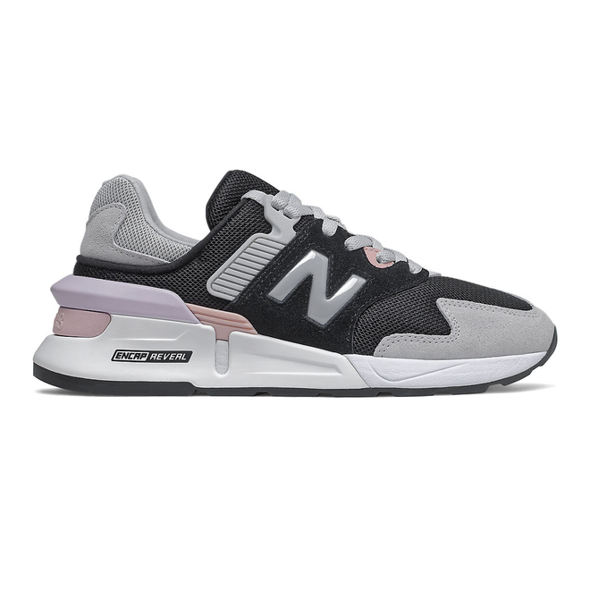 New Balance 997 Sport - Black with Light Aluminum & Space Pink