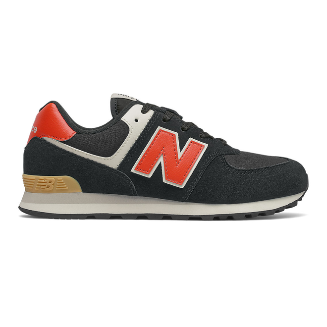 New Balance 574 - Black with Ghost Pepper
