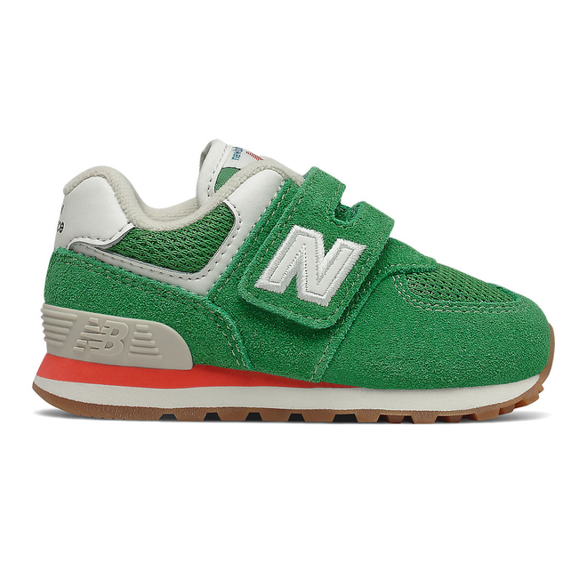 New Balance 574 - Varsity Green with Ghost Pepper