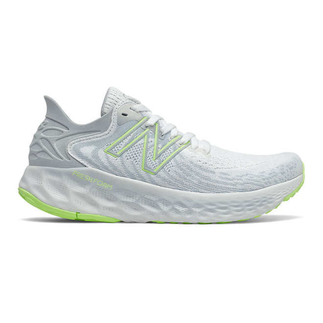 New Balance Fresh Foam 1080v11 - White with Bleached Lime Glo