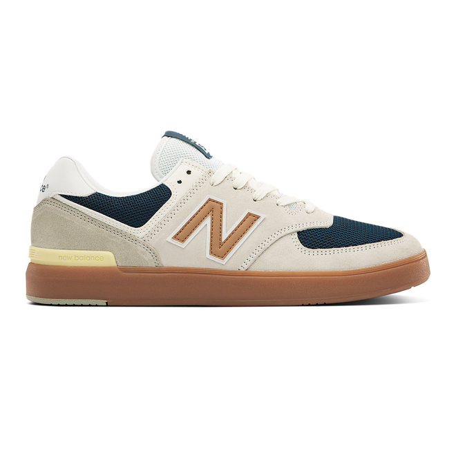 New Balance All Coasts 574 - White with Gold