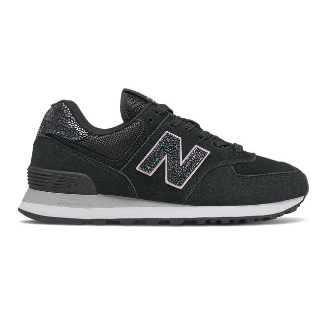 New Balance 574 - Black with White