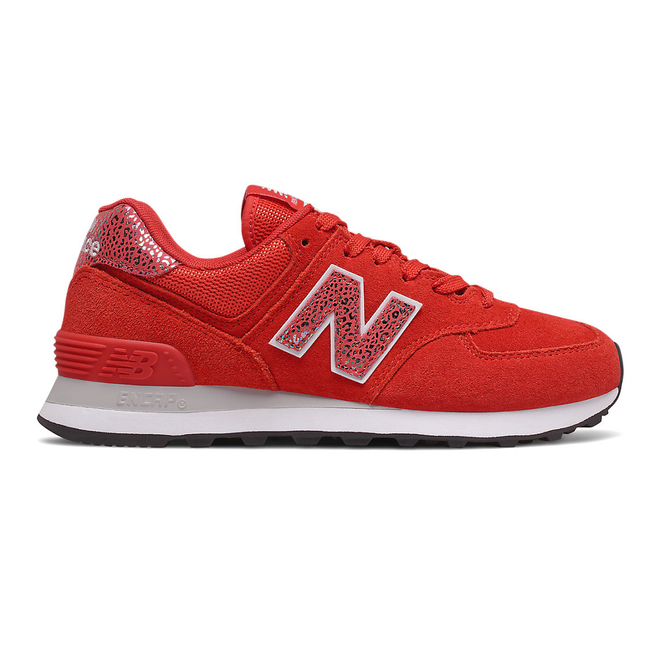 New Balance 574 - Velocity Red with White