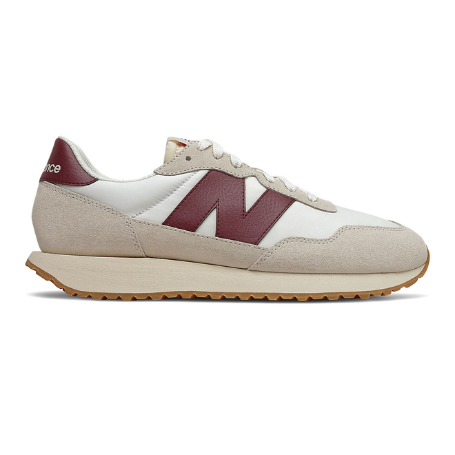New Balance 237 - Moonbeam with Classic Burgundy