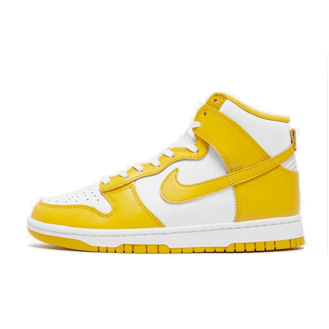 Nike WMNS Dunk High 'Dark Sulfur' zijaanzicht