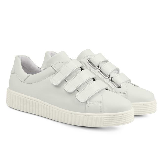 LaShoe Sneaker Retro mit Klettverschluss Weiẞ