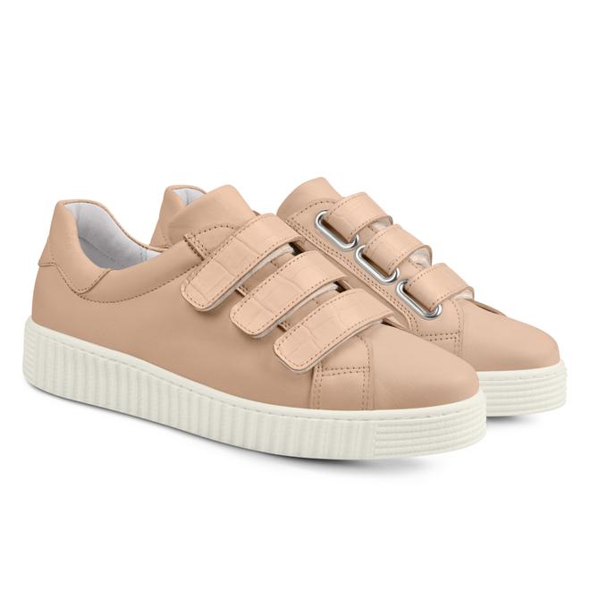 LaShoe Sneaker Retro mit Klettverschluss Rosé