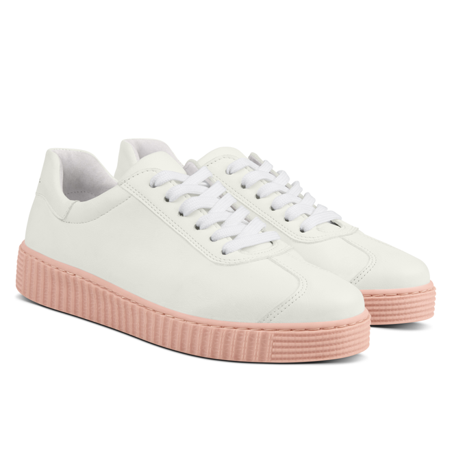 LaShoe Sneaker Retro mit Kontrastsohle Weiẞ