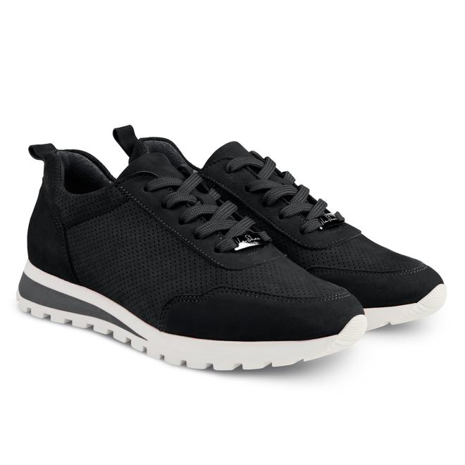 LaShoe Sneaker Leder Classic Schwarz
