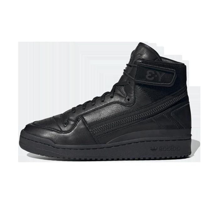 adidas Y-3 Forum High 'Black' zijaanzicht