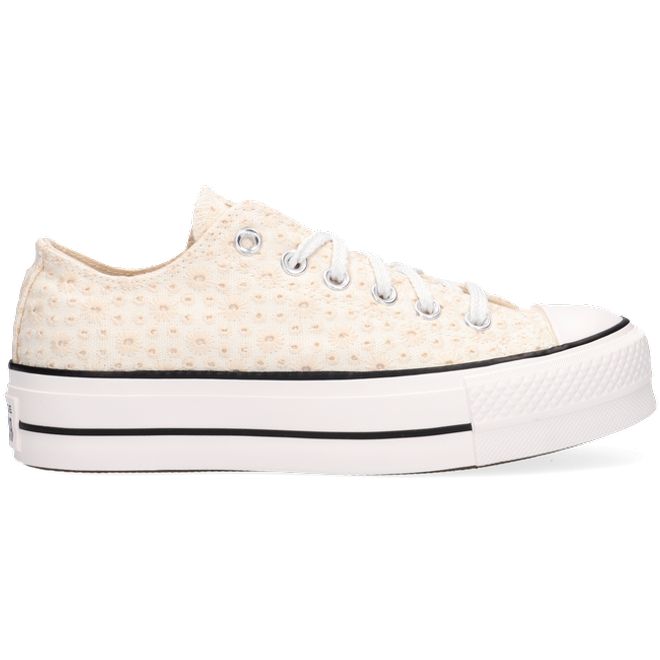 Canvas Broderie Platform Chuck Taylor All Star Low Top