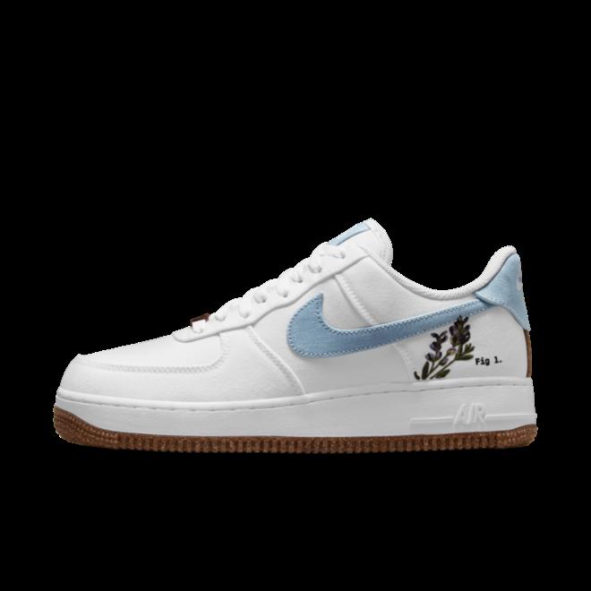 Nike Air Force 1 'Indigo' zijaanzicht