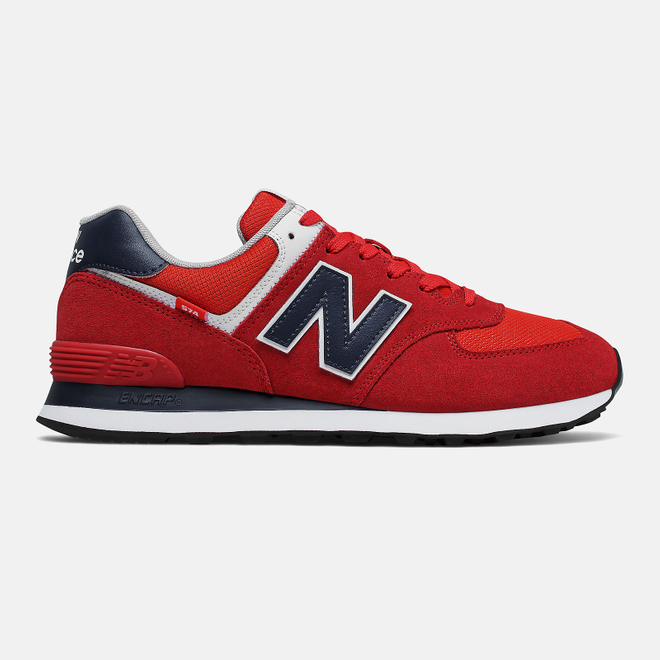 New Balance 574 - Team Red with Natural Indigo