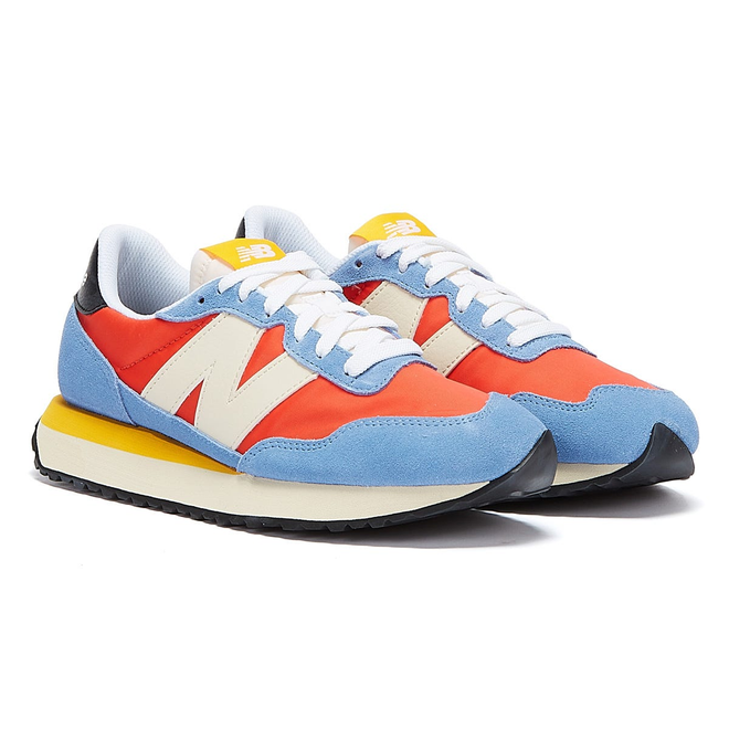 New Balance 237 Womens Blue / Pink / White Trainers