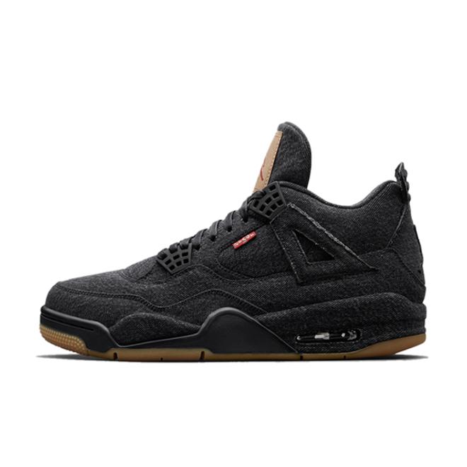 Jordan Brand  Air Jordan 4 Retro Levis NRG 'Black' zijaanzicht