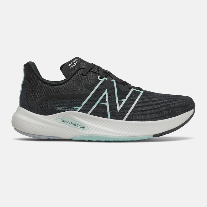 New Balance FuelCell Rebel v2 - Black with White Mint