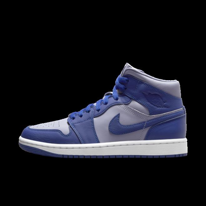 Air Jordan 1 Mid 'Blue' zijaanzicht